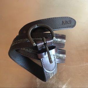 Abercrombie & Fitch brown beaded belt sz M/L